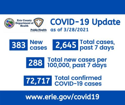 Erie County Department of Health - COVID-19 Statistics - Shatkin Masks - Buy N95 Masks Online